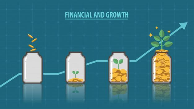 Financial and growth Premium Vector