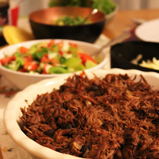 Slow Cooked Beef Barbacoa, perfect for tacos.