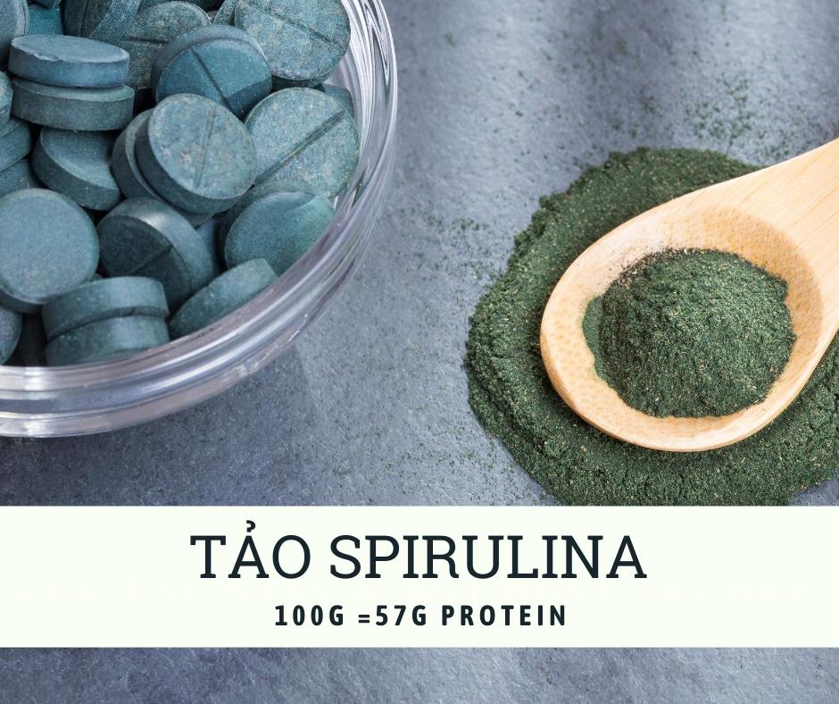 Tảo xoắn bổ sung protein cho người ăn chay