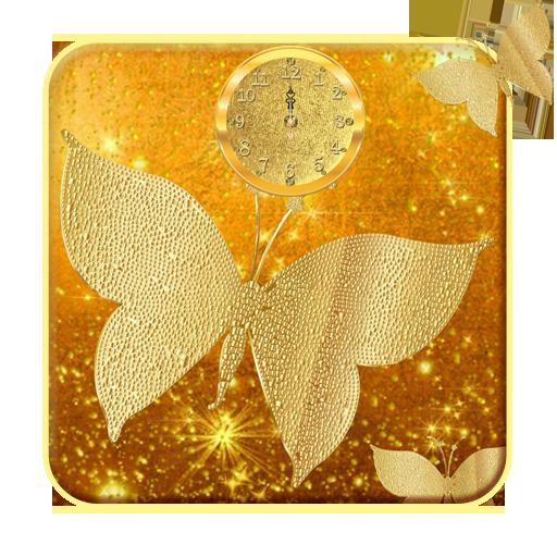 Golden butterfly theme