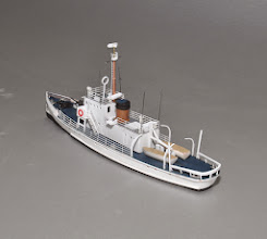 """Photo: Z Scale (1:220) Active Class Cutter: all of 6.8"""" long. Port Stern 3/4 View. Kit is $99.00 plus shipping."""