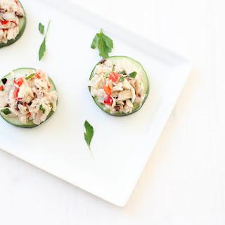 Greek Tuna Salad Bites.