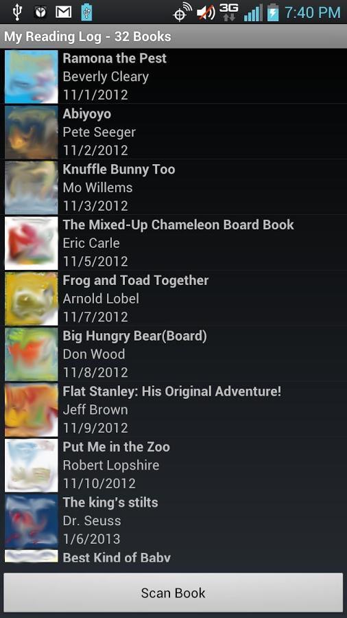 Reading Log - screenshot