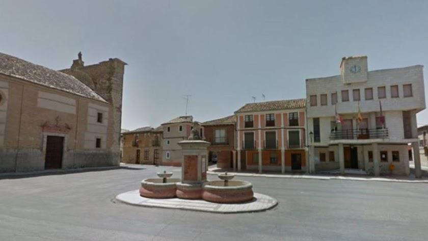 Plaza de España de Villamarriel, en Palencia (Foto: Google Maps)