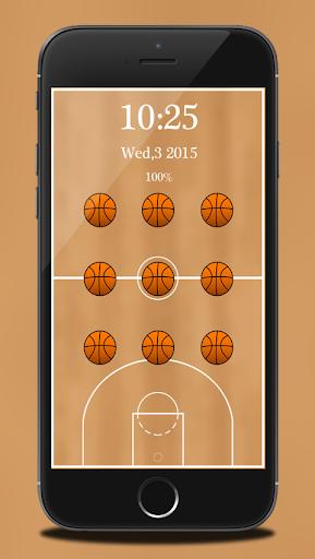 籃球圖案鎖