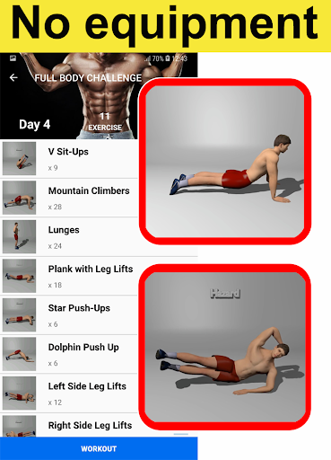 Home Workouts - No equipment - Lose Weight Trainer 18.61 Screenshots 2