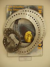 """Photo: """"Im Schatten der Titanen"""" http://www.youtube.com/watch?v=82cmrJiAnlw Collage aus Schrottplatz funden, Poster des Zeppelin Museum und einer Goldmaske """"In the shadow of the Titans"""" http://www.youtube.com/watch?v=82cmrJiAnlw Collage from a scrap yard, poster of the Zeppelin Museum and a gold mask"""