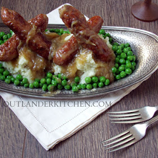 Bangers and Mash with Crock Pot Onion Gravy from DIA