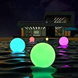 "LOFTEK LED Dimmable 8"" 16 RGB Floating Pool Lights"