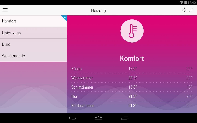 magenta smarthome android apps auf google play. Black Bedroom Furniture Sets. Home Design Ideas