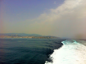 Photo: Tarifa, Spain getting smaller and smaller in the distance.