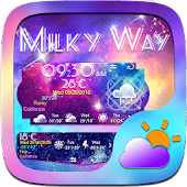 Milky Way Weather Widget Theme