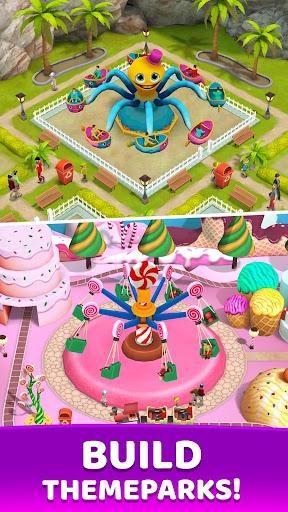 Fun Town: Build theme parks & play match 3 games screenshots 2