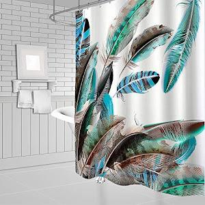 Set pentru baie: perdea, covorase si husa de toaleta, Feather