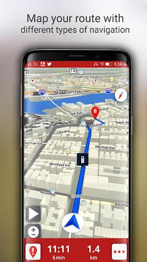 Free-GPS, Maps, Navigation, Directions and Traffic 1.9 screenshots 5