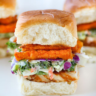 Grilled Chicken Sweet Potato Slaw Sliders