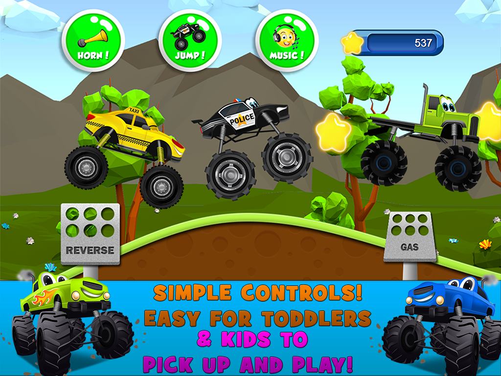 monster trucks game for kids 2 android apps on google play. Black Bedroom Furniture Sets. Home Design Ideas