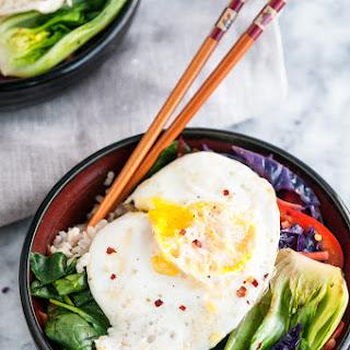 Healthy Brown Rice Stir Fry Bowls.