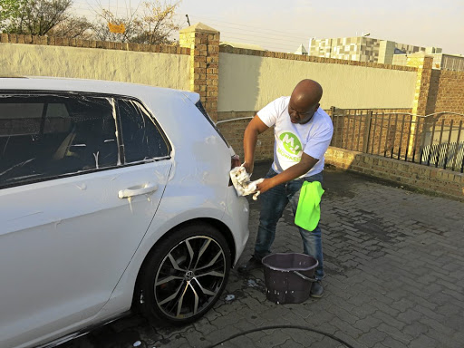 Kevin Dladla of Midrand operates a car wash and and a car wash app. /SUPPLIED