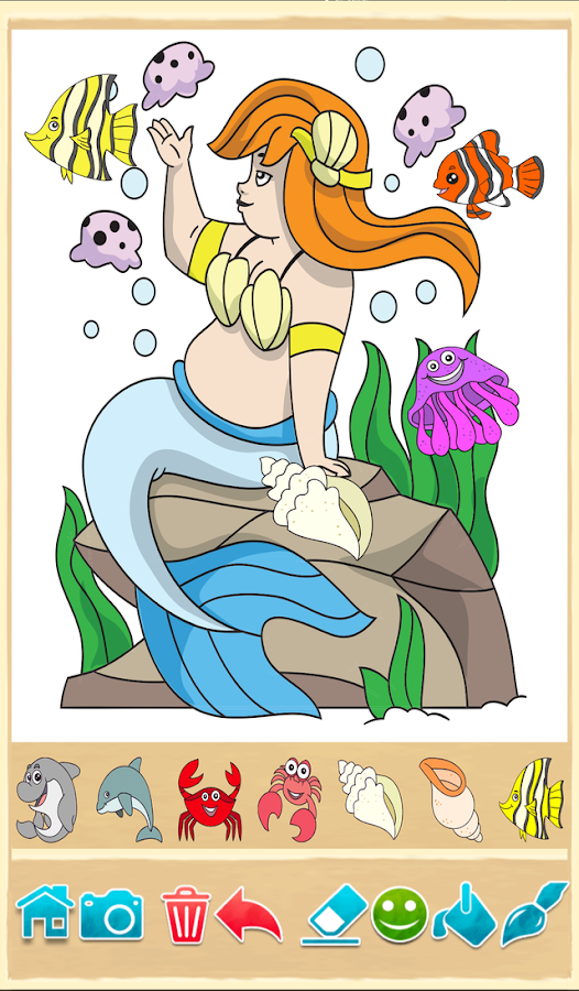 Ikan Duyung Perempuan Apl Android Google Play Screenshot Mewarnai Gambar