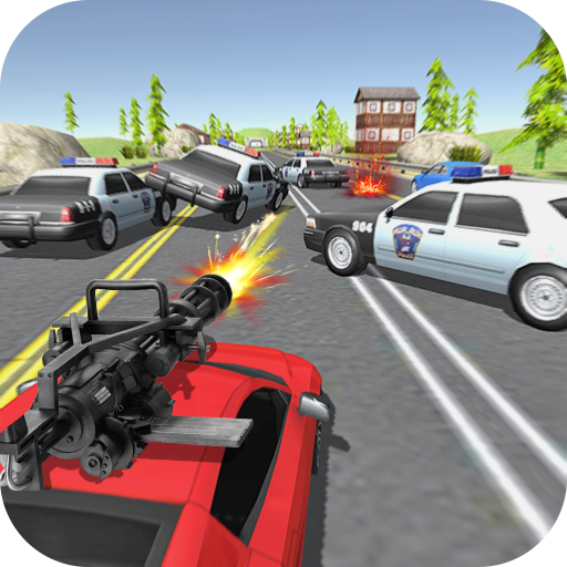 Police Chase - Car Shooting Game