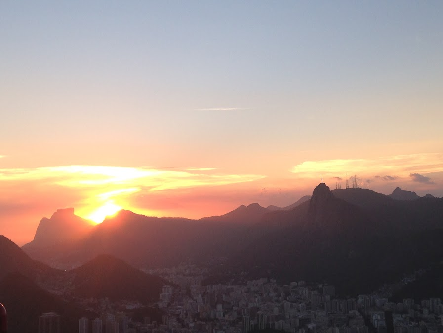 Sunset from the Sugarloaf.