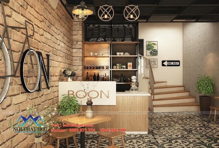 thiết kế quán cafe ấn tượng mạnh