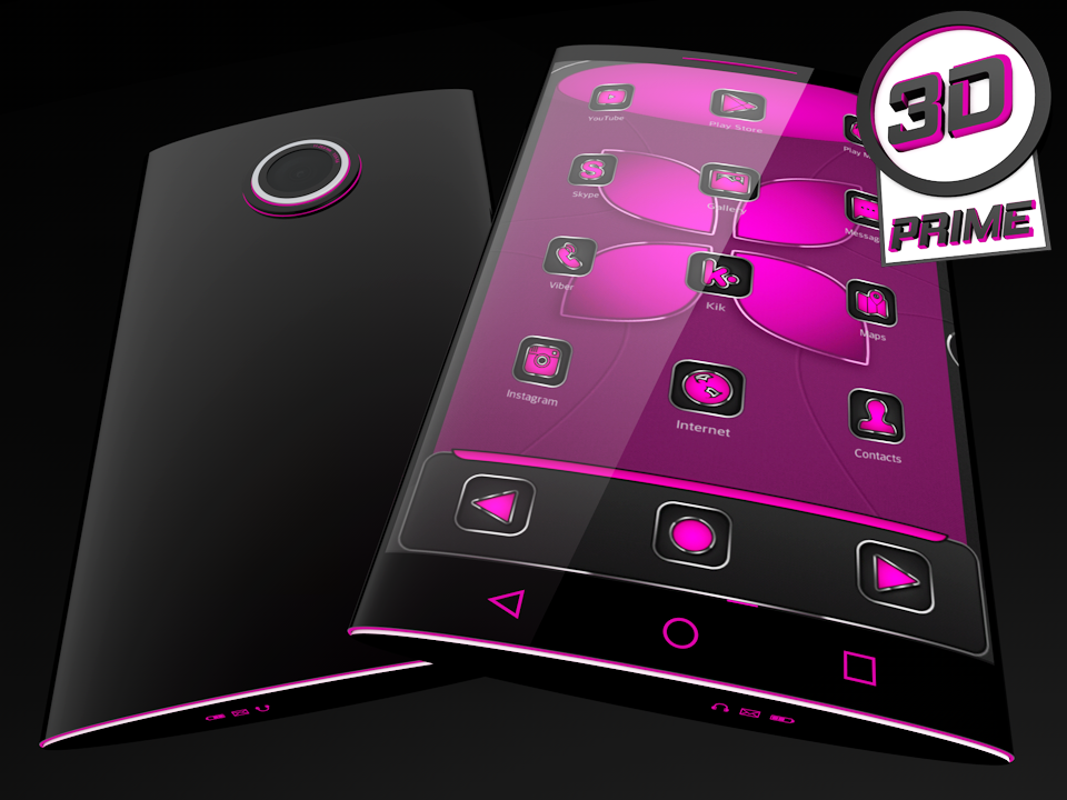 Soft Touch Pink theme for Next Launcher (Prime)- screenshot