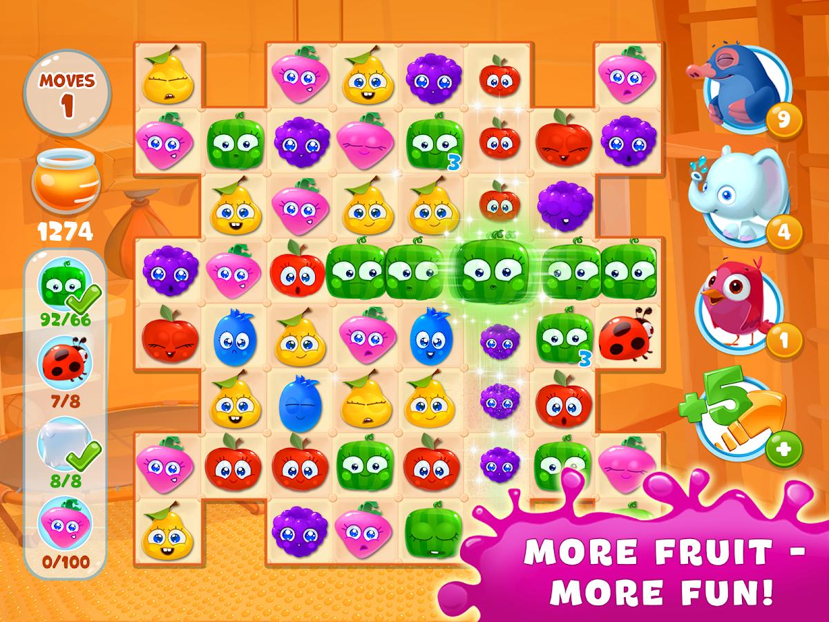 Fruit jam game - Fruity Jam Adventures Screenshot