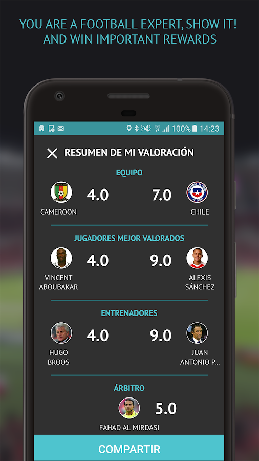 ValoraFutbol - Rate players, managers and referees- screenshot