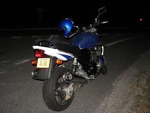 Photo: Arrêt de nuit à l'aller du côté de Rodez