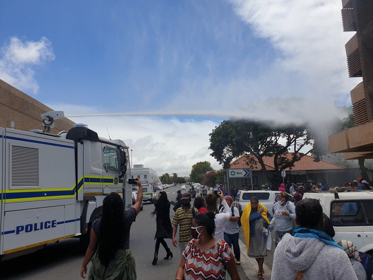 Black Sash turns to Ramaphosa after water cannon blasts grant queue - TimesLIVE