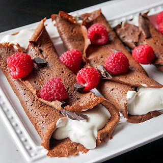Healthy Chocolate Crepes {Gluten and Grain Free} Recipe