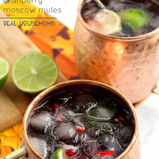 Pomegranate Cranberry Moscow Mules.