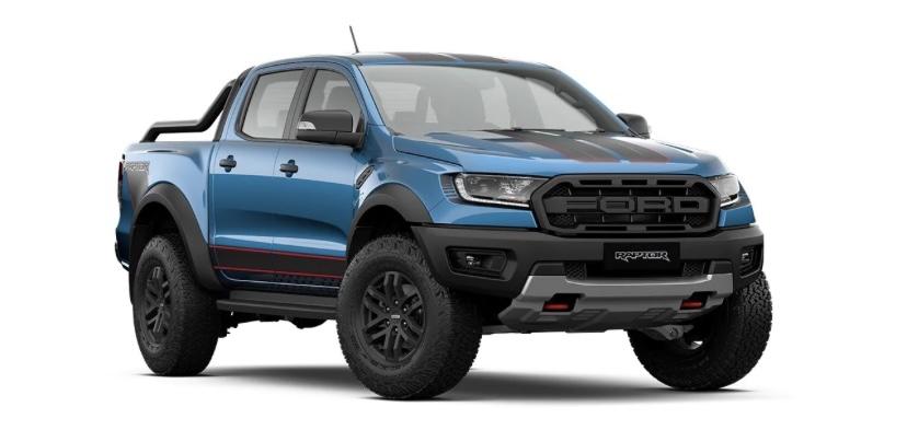 รถยนต์ Ford Ranger Raptor X สีน้ำเงิน Performance Blue