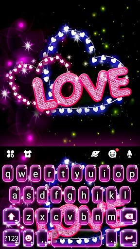 Neon Love Keyboard Theme 1.0 1