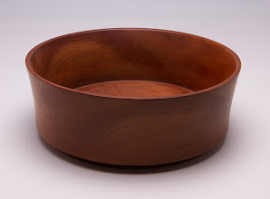 "Photo: Jack Enders 8 1/2"" x 3"" bowl [cherry]"