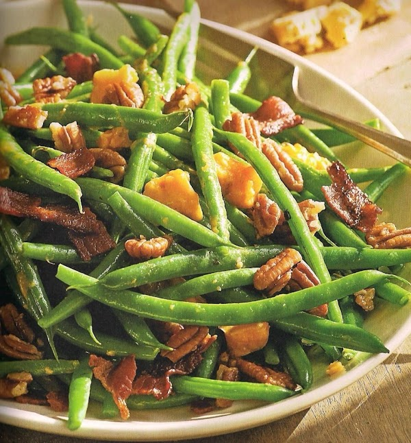 Nutty Green Beans With Blue Cheese And Bacon Recipe