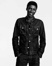 Photo: Sy Alassane (actor y modelo de Senegal) posa para Diesel+Edun: a denim collection born in Africa Diesel+Edun: a denim collection born in Africa