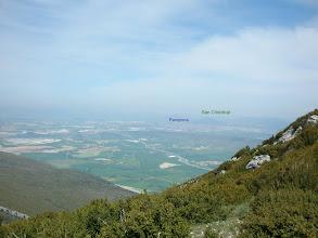 Photo: Pamplona casi no se ve por la calima