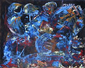 """Photo: """"Les ailes de la mer"""". Acrylique sur toile. 40x50cm horizontal."""