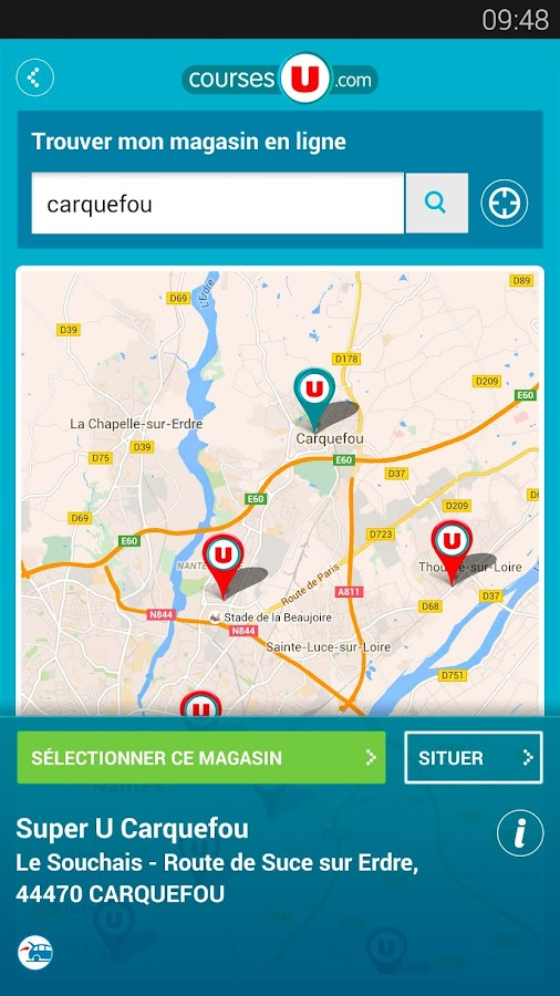 CoursesU vos courses en ligne- screenshot