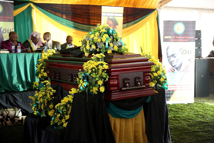 Sindiso Magaqa's funeral service at Ibisi sports ground, 7. September 16, 2017.