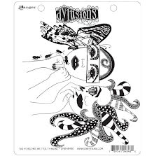 Dylusions Cling Stamps 8.5X7 - Two Heads Are Better Than One