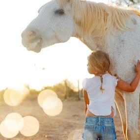 My little pony by Chrismari Van Der Westhuizen - Babies & Children Children Candids ( pony, sunset, pets, horse, children, childhood, kids )