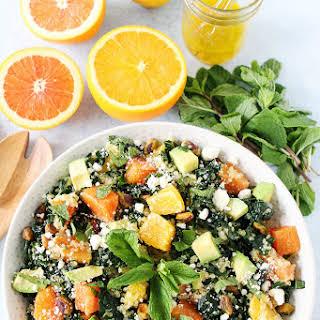 Orange, Avocado, and Kale Quinoa Salad.