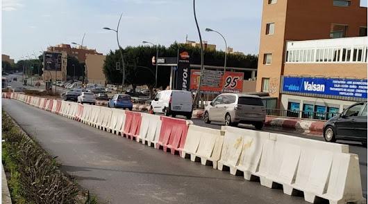 Arrancan las obras: tres carriles en el puente de la Avenida del Mediterráneo