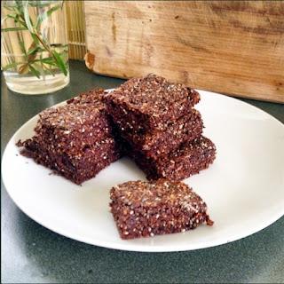 4-Ingredient Easy Chocolate Chia Seed Bars.