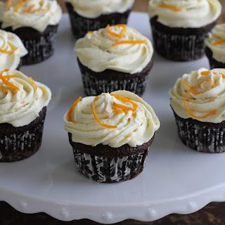 Chocolate Cupcakes W/Orange Buttercream.