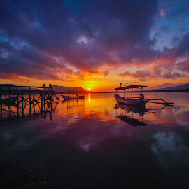 Colorfull place by Arie Sanjaya - Landscapes Sunsets & Sunrises ( sunrise, sunset, place, water, landscape )